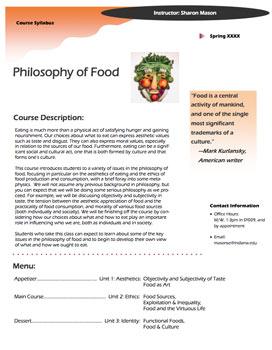 Philosophy of Food Syllabus